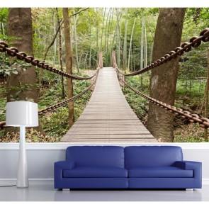 Sallanan Köprü 3 Boyutlu Manzara Duvar Kağıdı Modeli