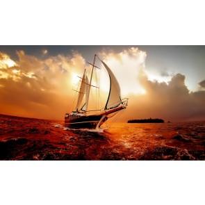 Tekneden Gün Batımı