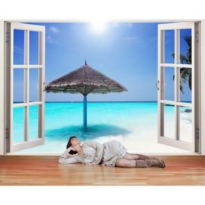 Penceremden Maldivler - Pencere Manzaralı Duvar Kağıdı Uygulama