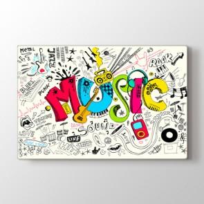 Müziği Hisset - Modern Duvar Dekoru Kanvas Tablo