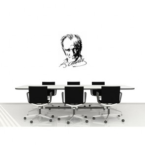 Atatürk İmzalı Portre - Resimli Duvar Dekorasyonu