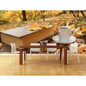 Bir Fincan Kahve Olsan - Resimli İthal Duvar Kağıtları