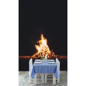 Kamp Ateşi 3 Boyutlu Duvar Kağıdı