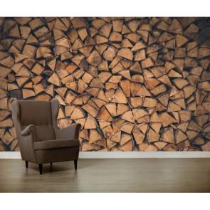 Yaş Odunlar 3 Boyutlu Duvar Kağıdı
