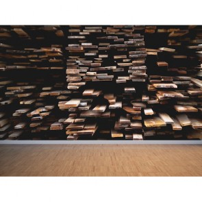 Tahtaların Dizilişi 3 Boyutlu Duvar Kağıdı