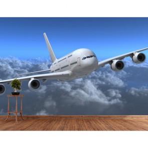 Airbus Uçak Modeli 3 Boyutlu Manzara Duvar Kağıdı Modeli