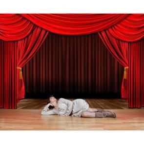 Tiyatro Sahnesi - Üç Boyutlu Duvar Kağıdı Modeli Uygulama