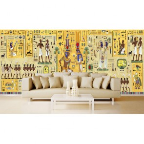 Mısır Duvar Figürleri - 3 Boyutlu Duvar Kağıdı Uygulama