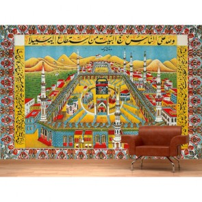 Kabe Mekke 3 Boyutlu Resimli Duvar Kağıdı