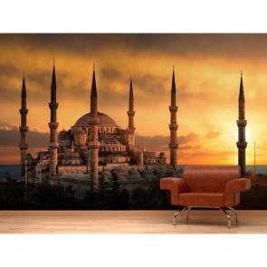 Cami İslam İbadet Yeri 3 Boyutlu Resimli Duvar Kağıdı