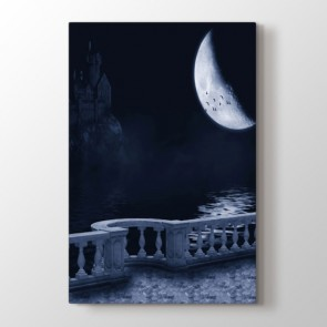 Karanlık Şato - Doğa Manzara Kanvas Tablo Modeli