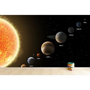 Galaksi Sistemi Dizilişi Üç Boyutlu Duvar Kağıdı