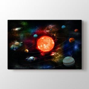 Fantastik Güneş Sistemi Tablosu | Ders Kanvas Tablosu