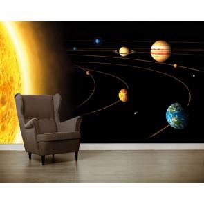 Güneşten Gezegenlere 3 Boyutlu Duvar Kağıdı