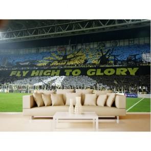 Sarının Yanına Lacivert 3 Boyutlu Fenerbahçe Poster Duvar Kağıdı Önizleme