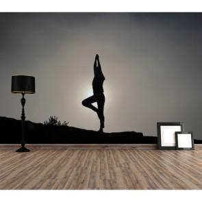 Yoga ve Esneme Spor Duvar Kağıdı Modeli