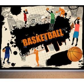 Basketbol - Resimli Spor Salonu ve Genç Odası Duvar Kağıdı Modeli Uygulama