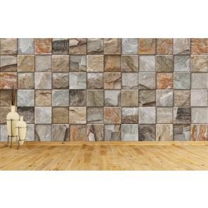 Kare Tuğlalar - 3D Duvar Kağıdı Uygulamalar