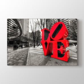 Aşk Sokaklarda Tablosu Kanvas Tablo Modeli