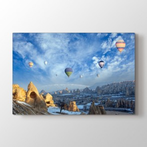 Balonlar Gökyüzünde Tablosu Kanvas Tablo Modeli
