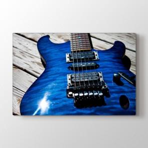 Mavi Gitar Tablosu Kanvas Tablo Modeli
