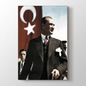 Mustafa Kemal'in Bakışları Tablosu Kanvas Tablo Modeli