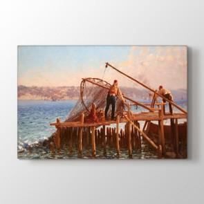 Osmanlı Dönemi Balıkçılık Tablosu - Kanvas Baskı Fiyatları