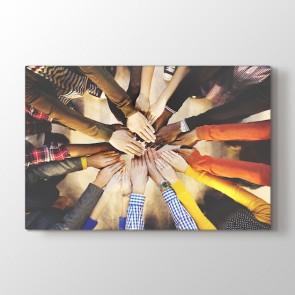 Birlikte Tek Güç Tablosu | İş Yeri ve Ofis Tabloları - duvargiydir.com