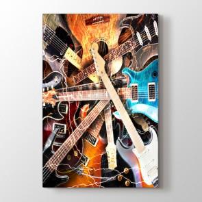 Gitar Koleksiyonu Tablosu | Gitar ve Müzik Tabloları - duvargiydir.com