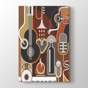 Müzik ve Sanat Tablosu | Müzik Resimleri Tabloları - duvargiydir.com