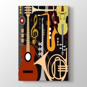 Sanatsal Müzik Teması Tablosu | Müzik Çizim Tabloları - duvargiydir.com