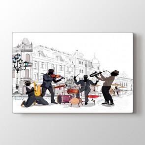 Sokak Müziği Tablosu | Müzik ve Blues Tabloları - duvargiydir.com