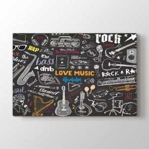 Müzik Odası Tablosu | Müzik ve Stüdyo Tabloları - duvargiydir.com