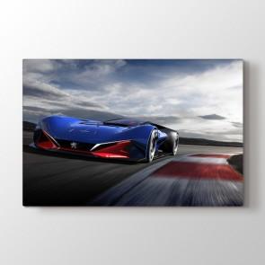 Peugeots Yarış Arabası Tablosu | Araba Tabloları - duvargiydir.com