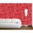 Kızıl Düşler Desenli Duvar Kağıdı