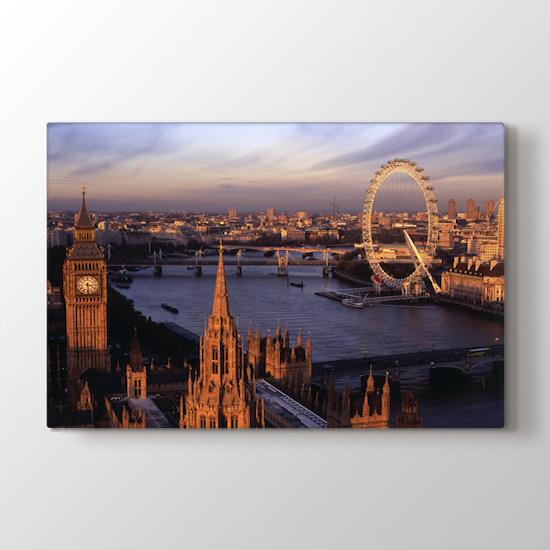 Londra'da Yaşamak - Şehir Duvar Dekoru Kanvas Tablo