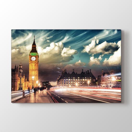 Londra'lı Bulutlar - Şehir Kanvas Tablo Modeli
