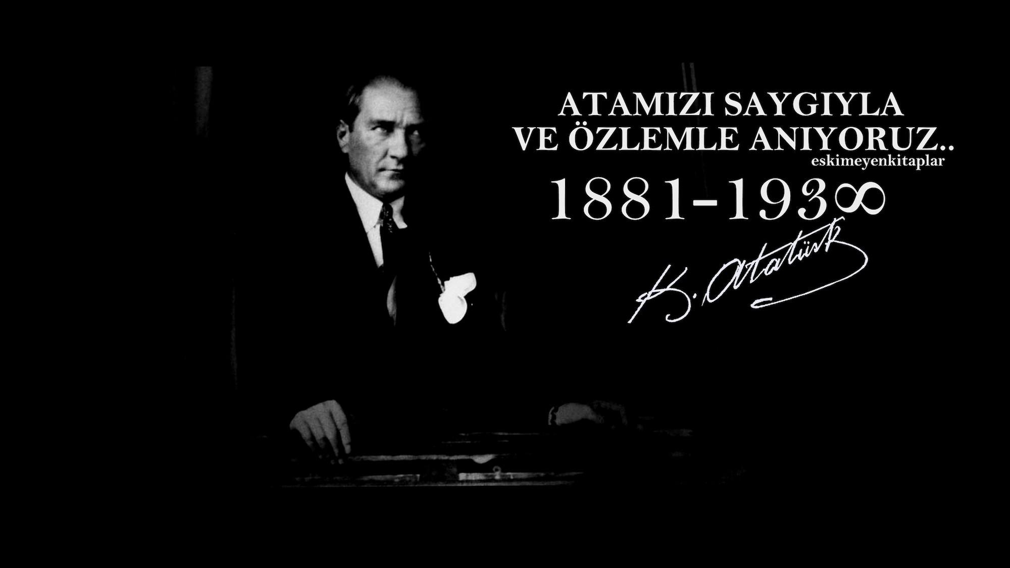 Atatürk'ü Anıyoruz 3 Boyutlu Resimli Duvar Kağıdı