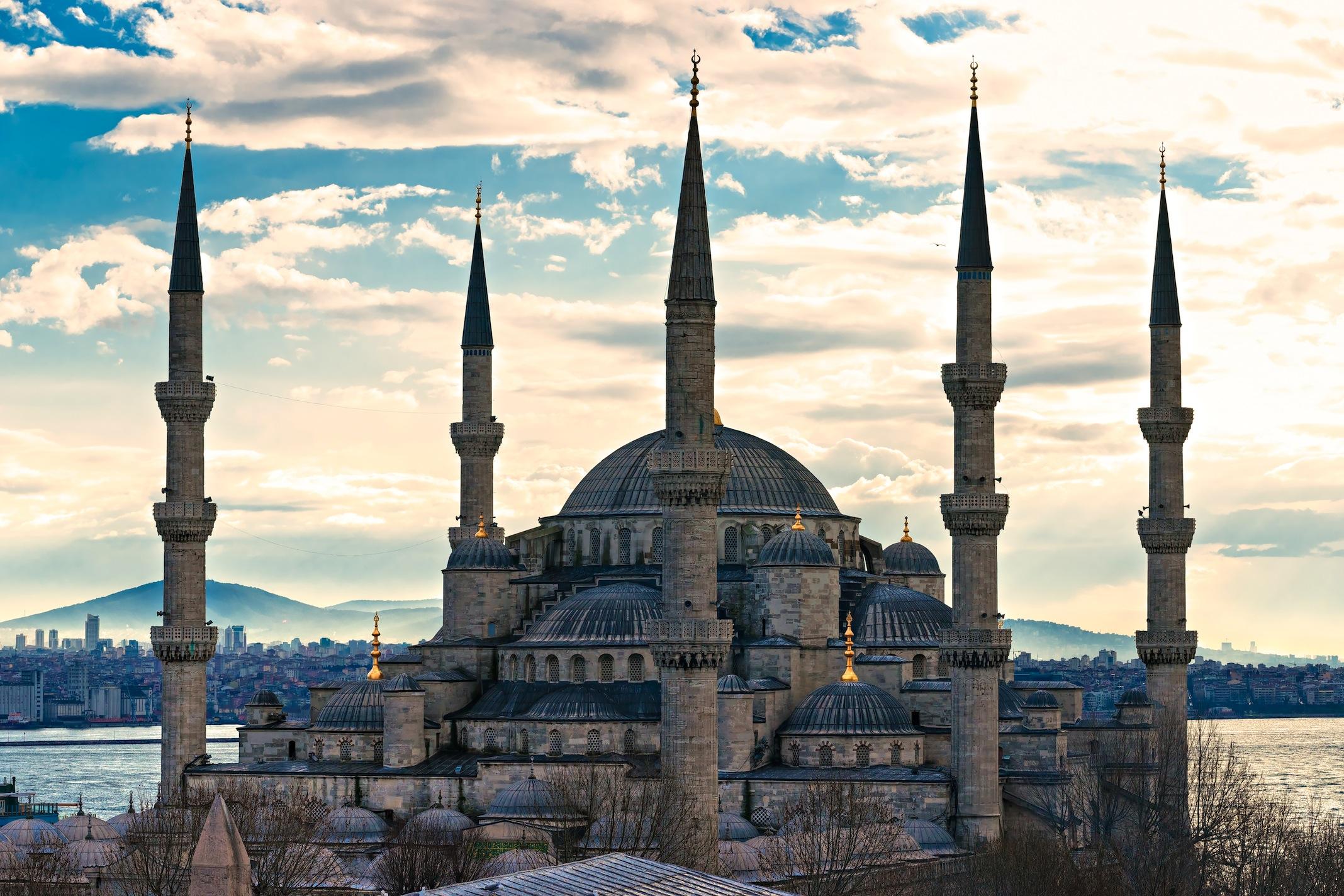 Sultan Ahmet Cami 3 Boyutlu Manzaralı Duvar Kağıdı Modeli