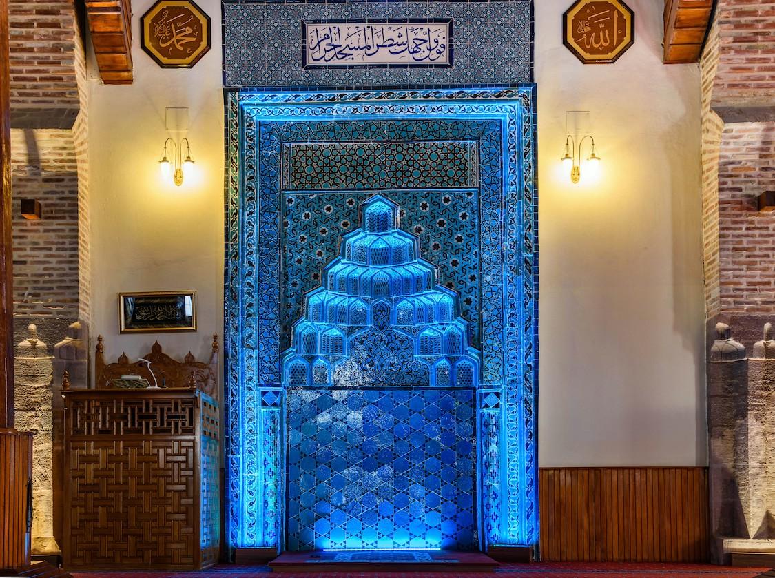 Cami Mihrap 3 Boyutlu Manzara Duvar Kağıdı Modeli