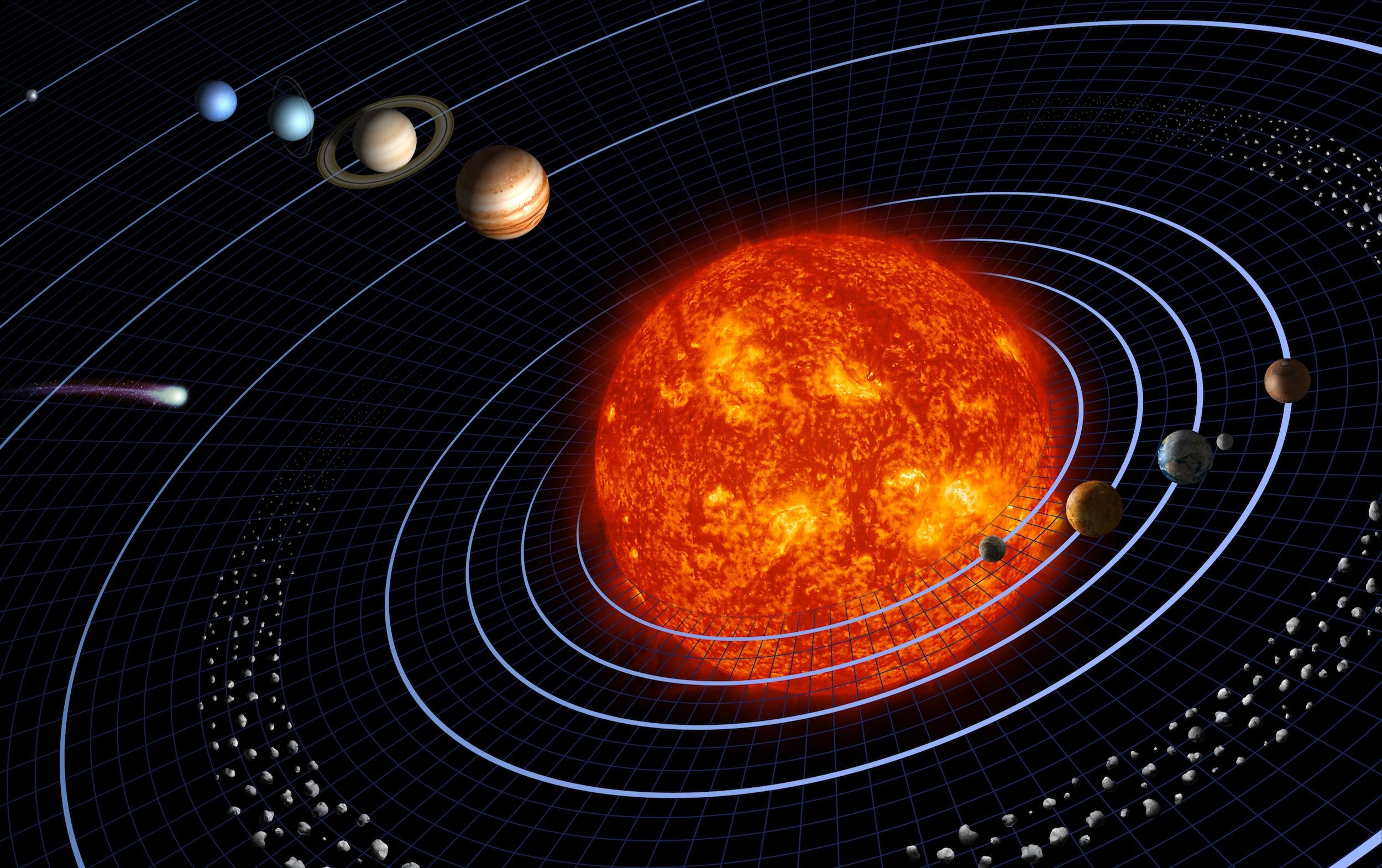 Dünya'nın Galakside Yörüngesi 3 Boyutlu Duvar Kağıdı