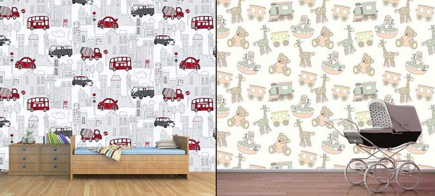 Çocuk ve Bedek Odası 3 Boyutlu Duvar Kağıtları