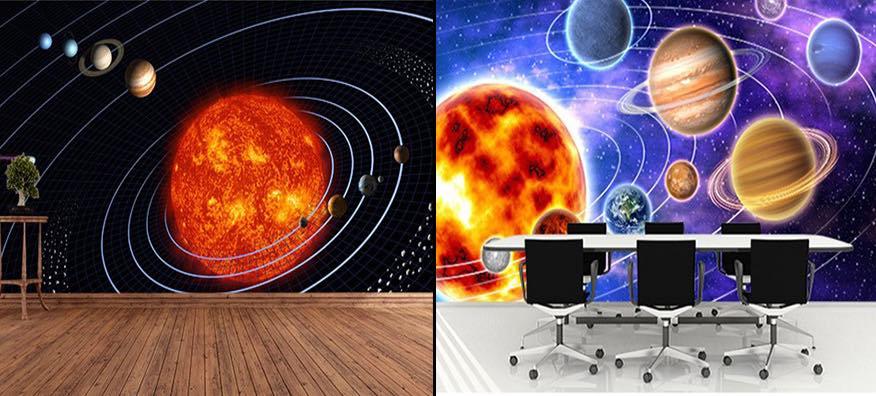 Uzay Gökyüzü 3 Boyutlu Duvar Kağıdı Modelleri